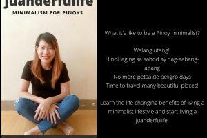 juanderfulife minimalism for pinoys